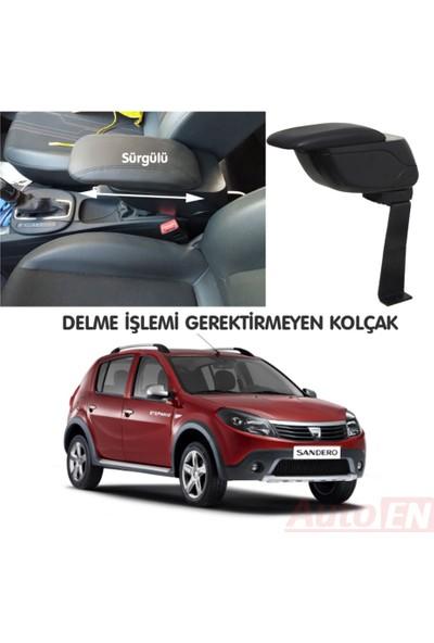 AutoEN Dacia Sandero Stepway 2008-2012 Kol Dayama Kolçak Siyah Delme Yok!