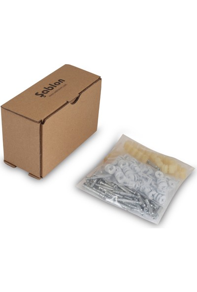 Şablon Minifix (Akçaağaç, Açık Meşe, Bartın Meşe) & Pim & Dübel Set 50 Takım