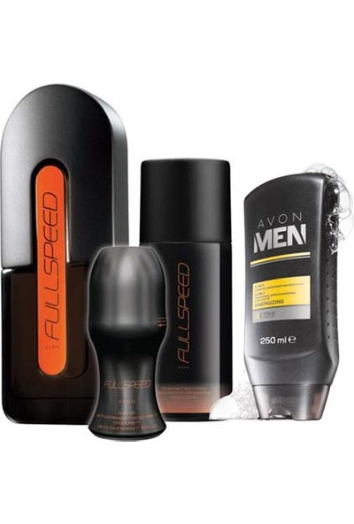 Avon Full Speed Edt 75 Ml Erkek Parfüm 4'Lü Set
