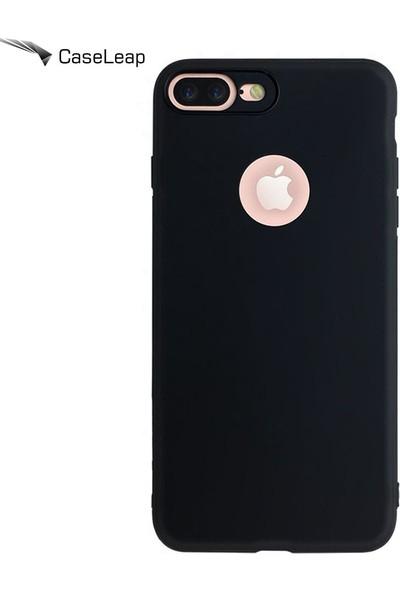 Case Leap iPhone 6 Plus Rubber Kamera Korumalı Silikon Kılıf Siyah
