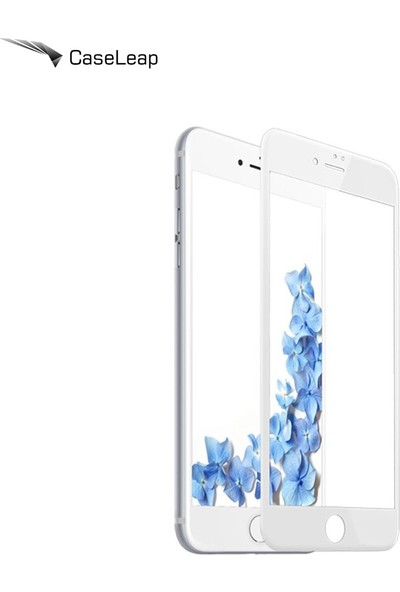 Case Leap iPhone 7 3D Full Cover Beyaz