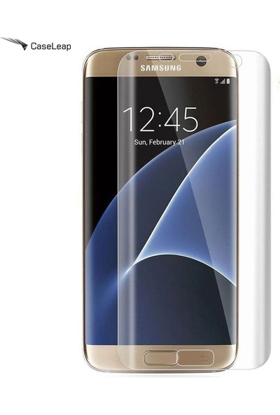 Case Leap Samsung Galaxy S7 Ekran Koruyucu Full Koruma Şeffaf