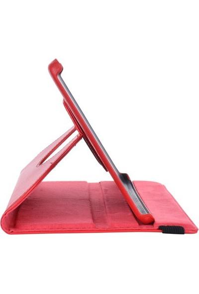 Miray Samsung Galaxy Tab 3 Lite T110/T113/T116 360° Hareketli Kılıf Stand Kırmızı