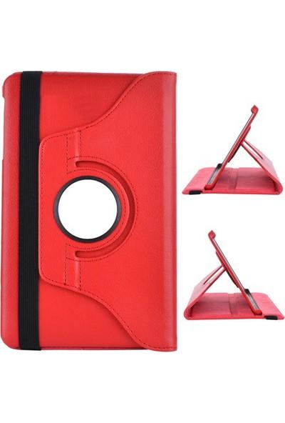 Miray Samsung Galaxy Tab 4 T530 Kılıf 360 Derece Dönerli Kırmızı