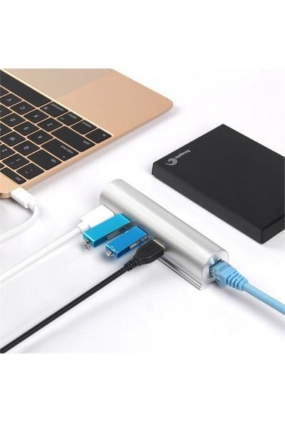 Unitek USB3.0 USB . C 3-Port Hub ve Gigabit Ethernet Çeviricisi