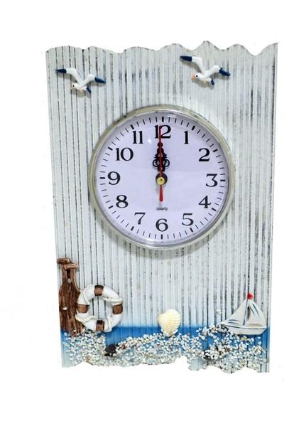 Marin Duvar Saati Yelkenli