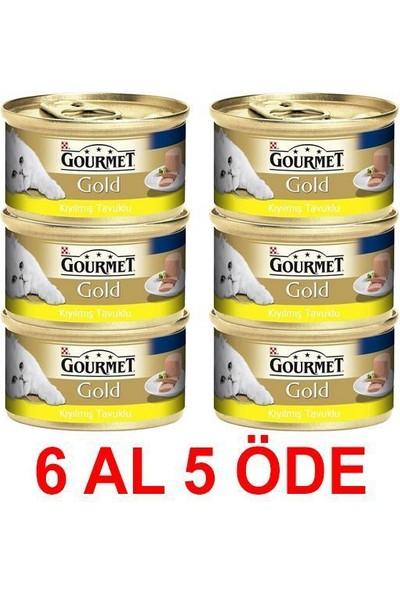 Gourmet Gold Kiyilmiş Tavuklu Konserve Kedi Mamasi 85 Gr (6 Al 5 Öde)