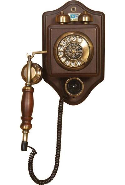 Anna Bell Küçük Duvar Ahşap Telefon