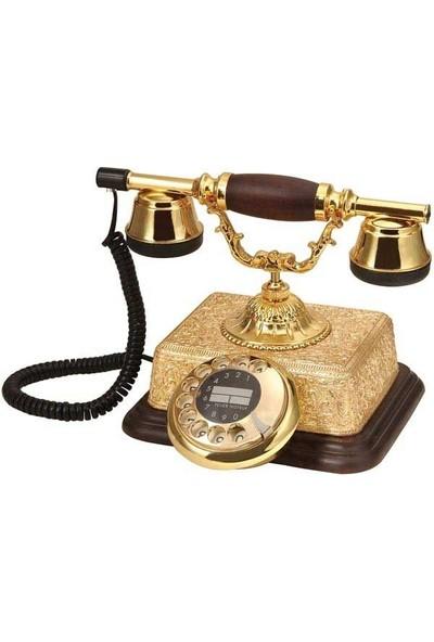 Anna Bell Şato Altın Varaklı Klasik Telefon