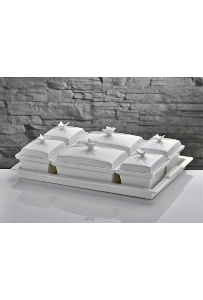 İhouse Yg58B Porselen Kahvaltılık Beyaz