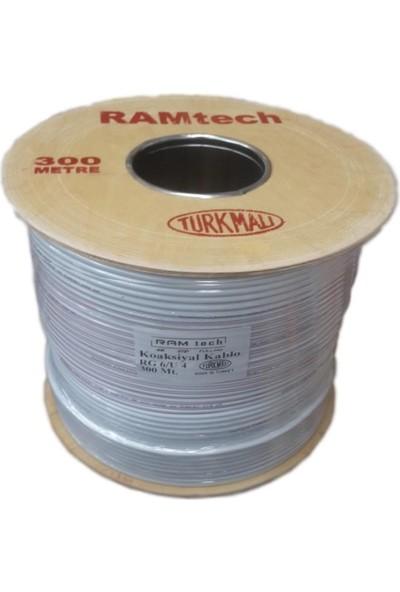 Ramtech 300 Metre Çanak Anten Uydu Kablosu Rg6-U4 Fullhd 3D 4K