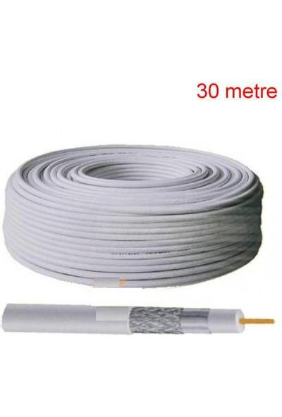 Ramtech 30 Metre Uydu Anten Kablosu Fullhd 3D 4K Uyumlu