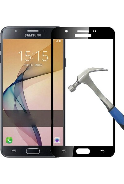 Teleplus Samsung Galaxy J7 Prime Full Kapatan Cam Ekran Koruyucu Cam Ekran Koruyucu