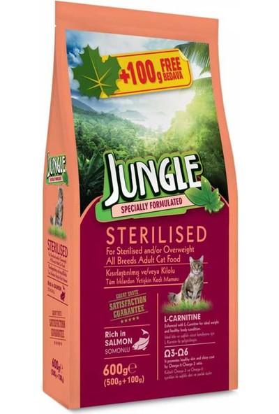 Jungle Sterilesed Somonlu Kısır Kedi Maması 600 g