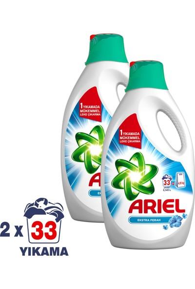 Ariel Sıvı Çamaşır Deterjanı Ekstra Ferah 33 Yıkama 2'li Paket