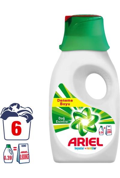 Ariel Sıvı Çamaşır Deterjanı Dağ Esintisi 6 Yıkama Beyazlar ve Renkliler İçin