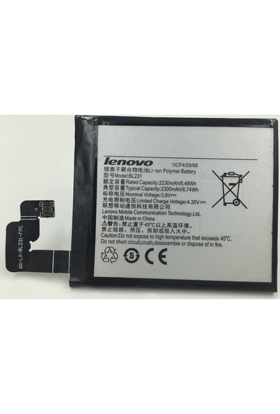 Lenovo Vibe X2 (Bl231) Batarya