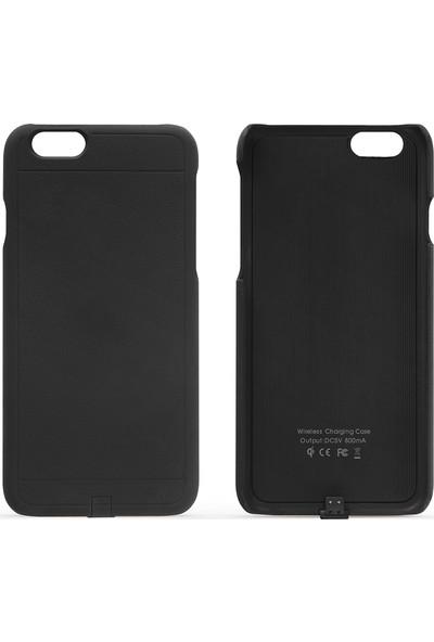 Fluxy iPhone 6 Plus/6s Plus Uyumlu Kablosuz Şarj Kılıfı - Siyah