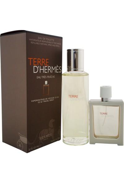 Hermes Terre Tres Fraiche Refill Edt 125Ml Erkek Parfüm + Edt 30Ml Erkek Parfüm Set