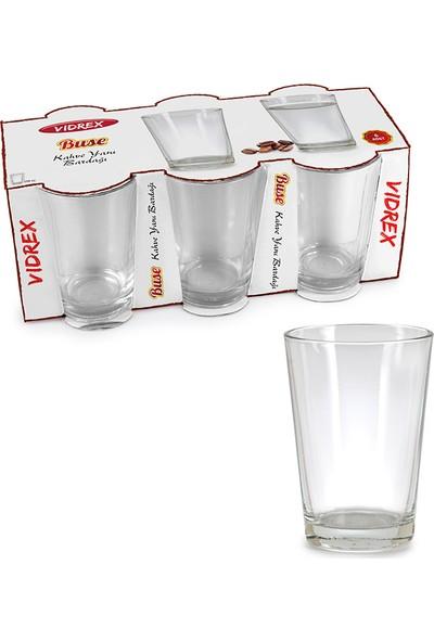 Vidrex Buse 6'lı Cam Kahveyanı Bardağı
