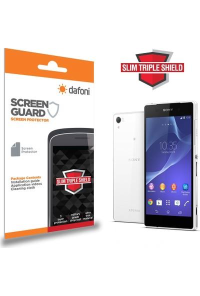 Dafoni Sony Xperia Z2 Slim Triple Shield Ön + Arka Ekran Koruyucu