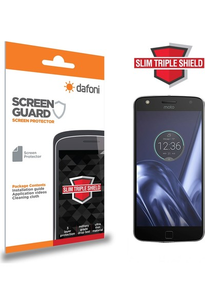 Dafoni Motorola Moto Z Play Slim Triple Shield Ekran Koruyucu