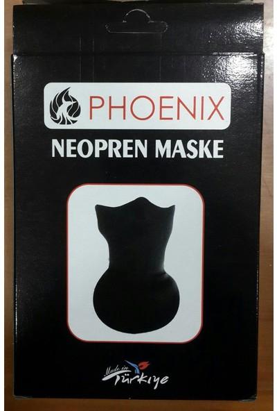 Tumopar Motosiklet İçin Maske Uzun-Neopren Phoenıx Siyah - Rüzgar Geçirmez