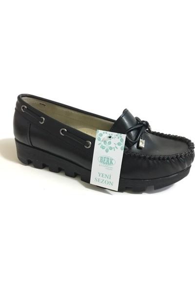 Berk Loafer Siyah Bayan Ayakkabı 6000171