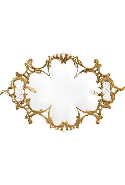 Çağ Deccor Altın Yaldızlı Seramik Meyvelik