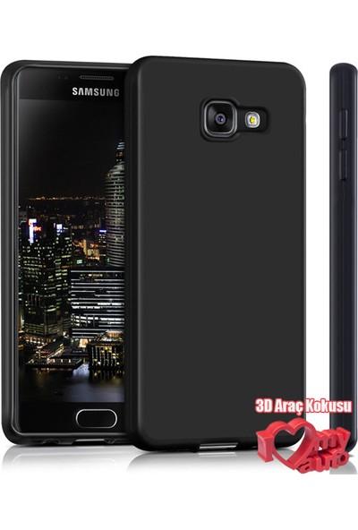 Coverzone Samsung Galaxy A3 2016 Kılıf A310 Slim Fit Silikon + 3D Araç Kokusu
