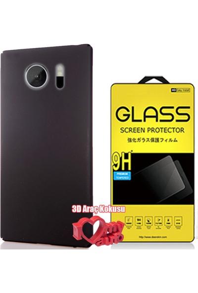 Coverzone Htc 10 Kılıf Soft Rubber Üst Alt Kapalı Siyah + + 3D Araç Kokusu