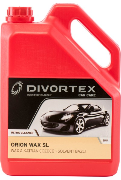Divortex Car Care Wax Ve Katran Çözücü Solvent Bazlı 3 Kg