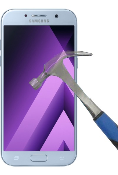 Teleplus Samsung Galaxy A5 2017 Plastik Ve Cam Ekran Koruyucu Karışımı Cam Ekran Koruyucu
