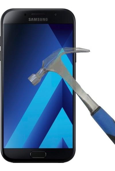 Teleplus Samsung Galaxy A7 2017 Plastik Ve Cam Ekran Koruyucu Karışımı Cam Ekran Koruyucu