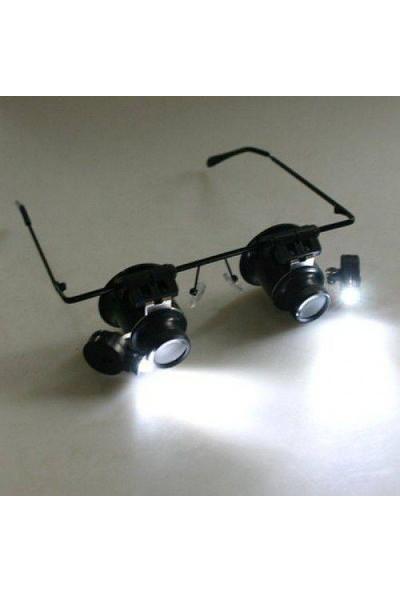 Enhavalı Gözlük Şeklinde 20X Büyüteç