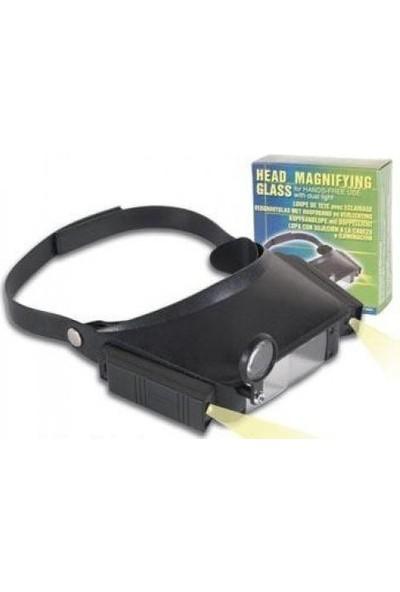 Enhavalı Led Lambalı Şapka Tip Işıklı Büyüteç Mg81007