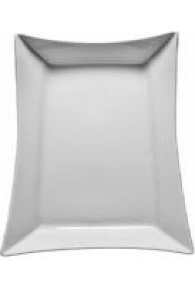 Kütahya Porselen Elanor Dikdörtgen Kayık Tabak 32 Cm