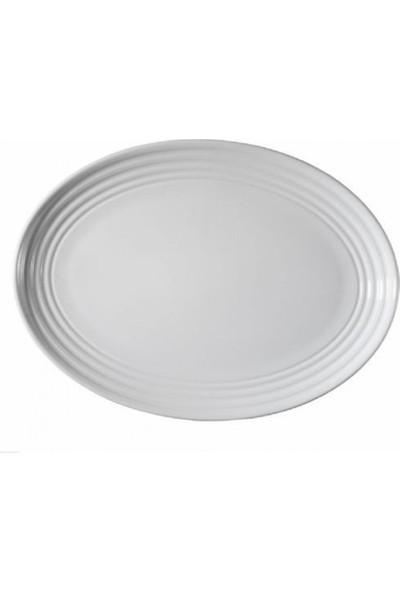 Kütahya Porselen Şato Serisi Kayık Tabak 32 Cm