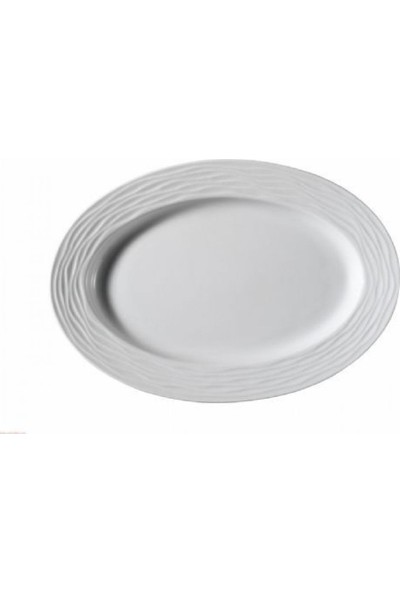 Kütahya Porselen Sea Wawe Serisi Kayık Tabak 18 Cm
