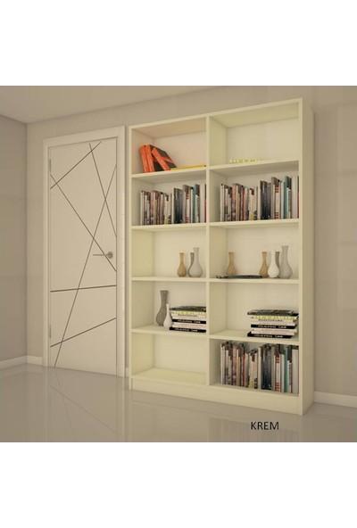 Modüler Dekor Liya Kapaklı Kitaplık 208 Cm 100Cm 26 Cm