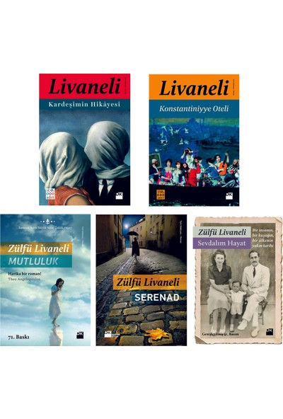 Zülfü Livaneli Seti (5 Kitap)