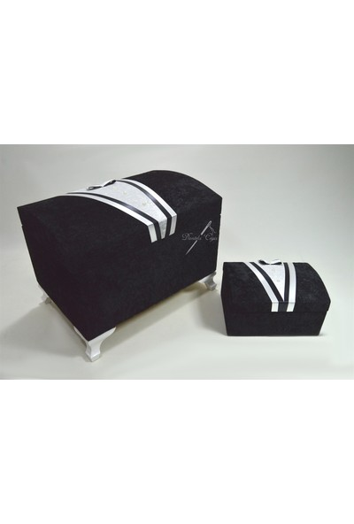 Çeyizci Damat Model Nişan Ve Çeyiz Sandığı (Siyah)