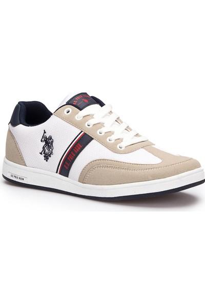 U.S. Polo Assn. Kares Beyaz Erkek Sneaker Ayakkabı