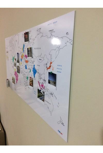 Mapofx Gez-Boya Harita - Boyanabilir Dünya Haritası (Sert Zeminli)