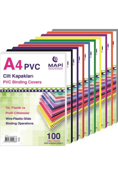 Mapi A4 Pvc Şeffaf Cilt Kapakları (160 Mic. 100'lü Pk.) 2040250 Şeffaf