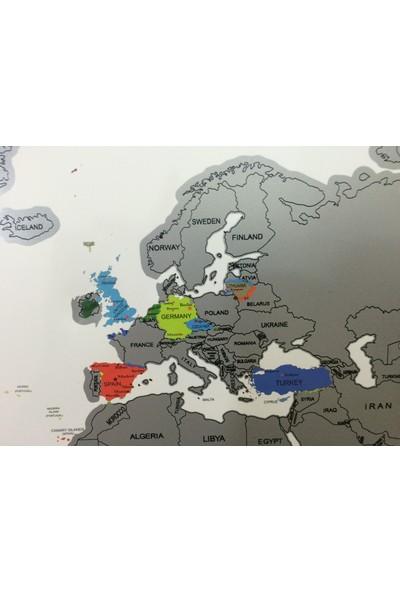 Mapofx Gez-Kazı Harita - Kazınabilir Dünya Haritası