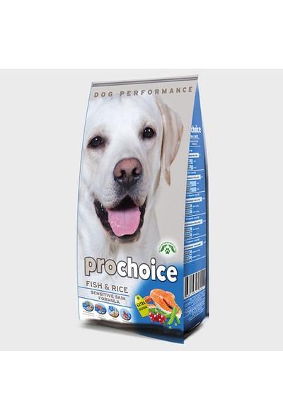 Pro Choice Fish & Rice Adult Sensitive Skin Hassas Derili Köpekler İçin Balıklı Yetişkin Köpek Maması 12 Kg