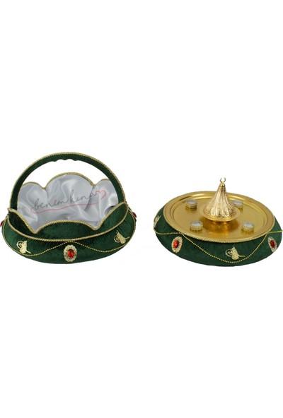 Smartevim Kına Gecesi Yeşil Osmanlı Lüks Kına Seti 399 Prç Kına Malzemeleri