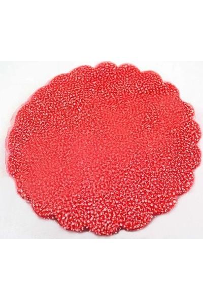 Smartevim Nikah Şekeri Kırmızı Karlı Tül Kese 18Cm 100 Ad Süsleme Malzemesi