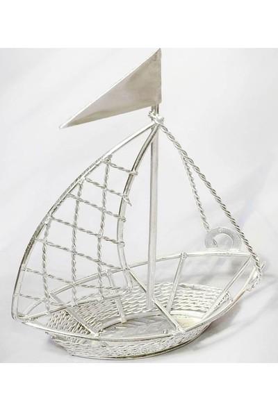 Smartevim Nikah Şekeri Tel Gemi Gümüş Hediyelik Söz 10 Ad. Süsleme Malzeme
